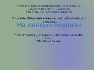 Муниципальное общеобразовательное учреждение «Гимназия № 4 им. А. С. Пушкина»