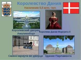 Королевство Дания Королевский дворец Амалиенборг Королева Дании Маргрета II З