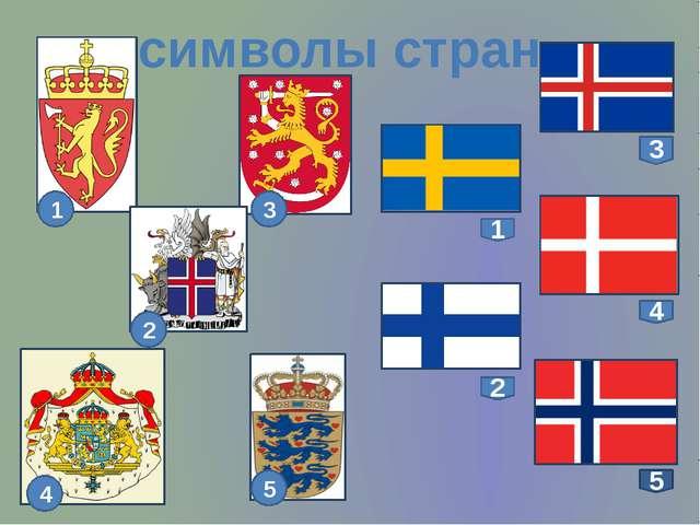 символы стран 3 1 4 2 5 3 1 2 4 5