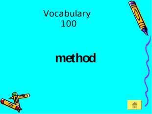 Vocabulary 100 method