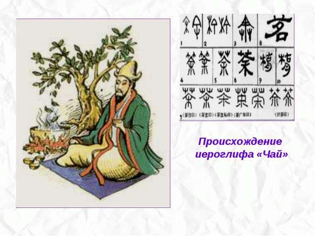 Происхождение иероглифа «Чай»
