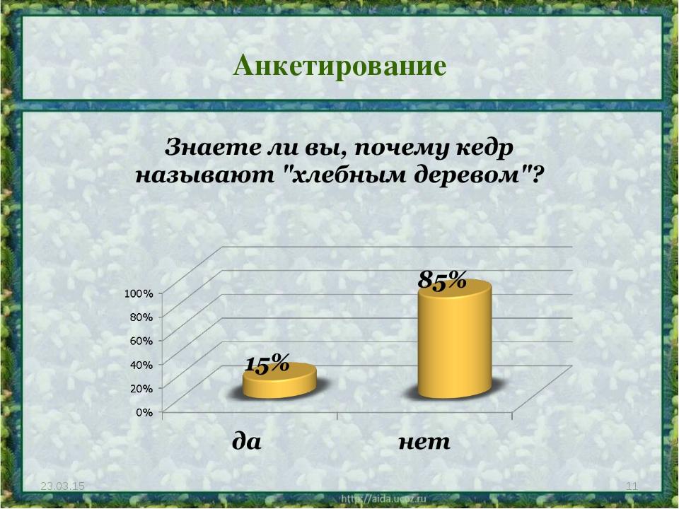Анкетирование * *