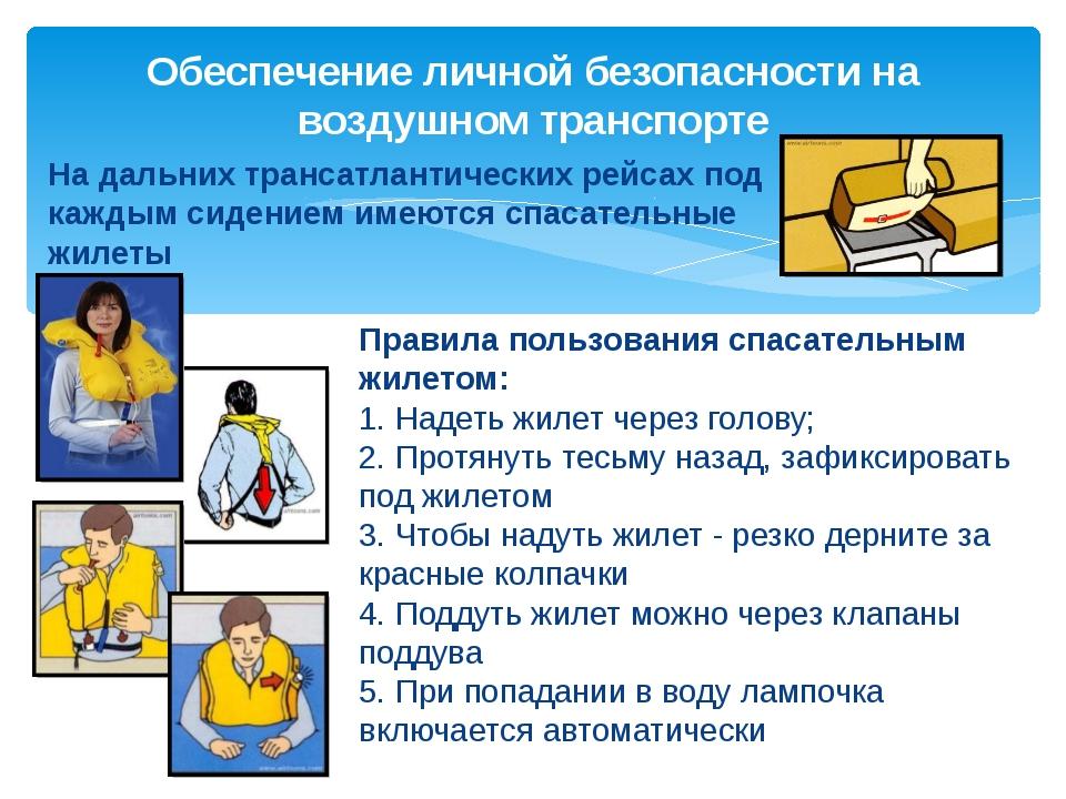 Правила пользования спасательным жилетом: 1. Надеть жилет через голову; 2. Пр...
