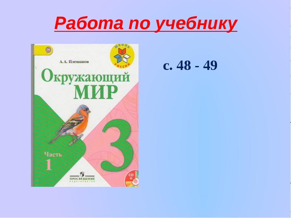 Работа по учебнику с. 48 - 49