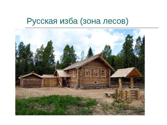 Русская изба (зона лесов)