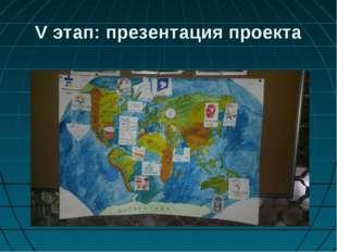 V этап: презентация проекта