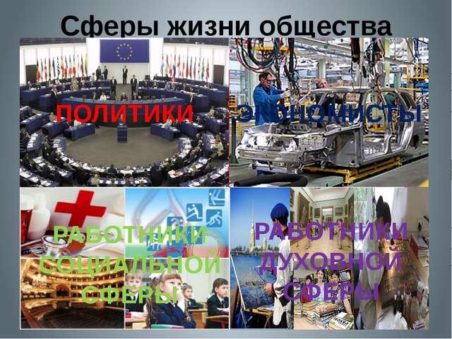 Сферы жизни общества Антонина Сергеевна Матвиенко Экономическая сфера Политич...