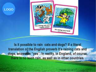 Is it possible to rain cats and dogs? If a literal translation of the English