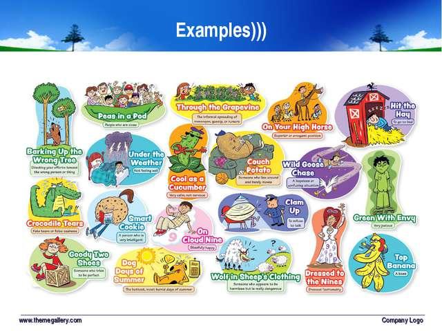 Examples))) www.themegallery.com Company Logo Company Logo