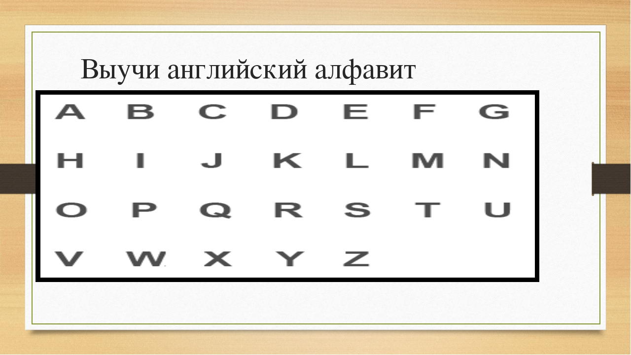 Выучи английский алфавит