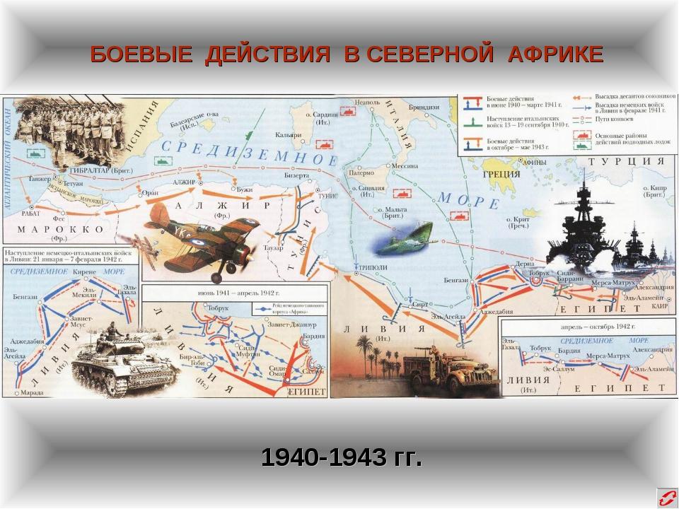 БОЕВЫЕ ДЕЙСТВИЯ В СЕВЕРНОЙ АФРИКЕ 1940-1943 гг.