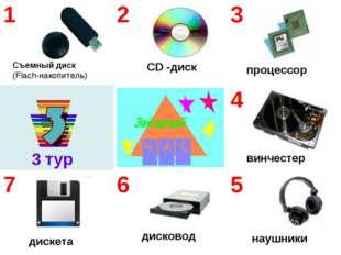 3 тур Съемный диск (Flach-накопитель) CD -диск наушники дисковод дискета винч