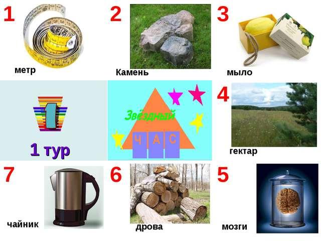 1 тур мозги мыло гектар дрова чайник метр Камень 123 4 765