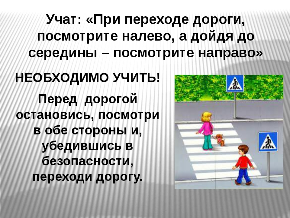 Учат: «При переходе дороги, посмотрите налево, а дойдя до середины – посмотри...