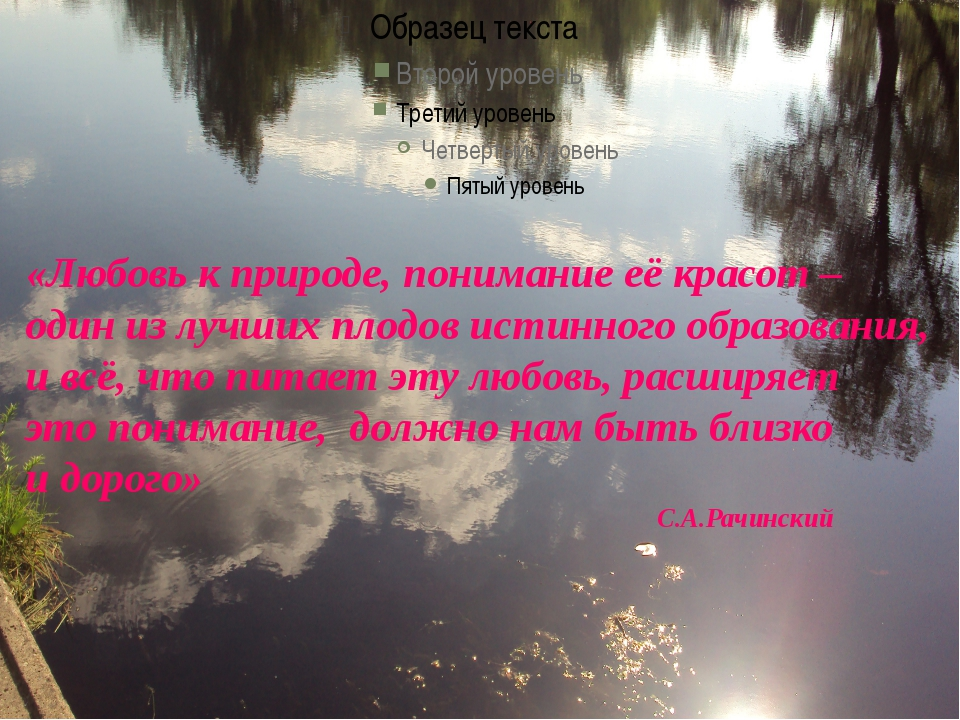 «Любовь к природе, понимание её красот – один из лучших плодов истинного о...