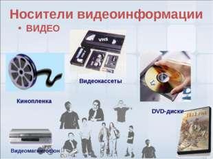 * Видеокассеты DVD-диски Кинопленка Носители видеоинформации ВИДЕО Видеомагни
