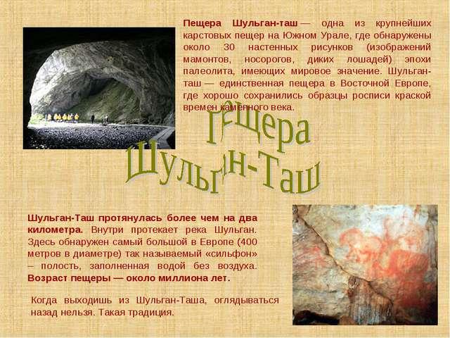 Пещера Шульган-таш— одна из крупнейших карстовых пещер на Южном Урале, где о...