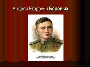 Андрей Егорович Боровых