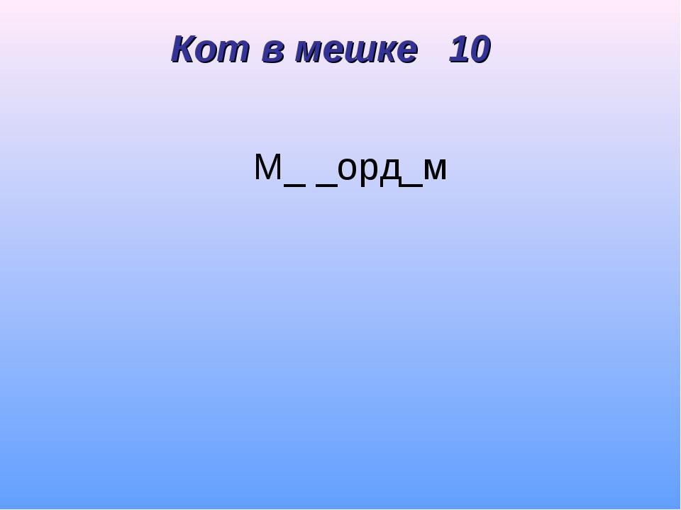 М_ _орд_м Кот в мешке 10