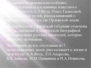 В старинном дворянском особняке, принадлежавшем племяннице известного русског