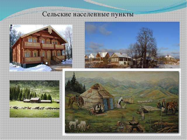 Сельские населенные пункты