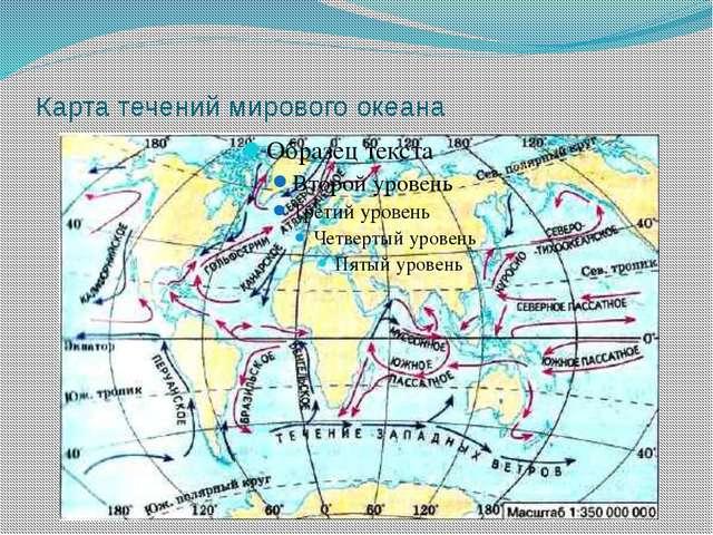 Карта течений мирового океана