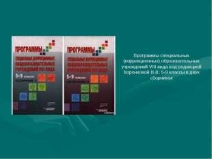 Программы специальных (коррекционных) образовательных учреждений VIII вида по
