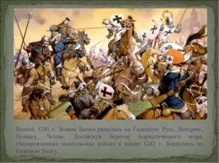 Весной 1241 г. Воины Батыя ринулись на Галицкую Русь, Венгрию, Польшу, Чехию.