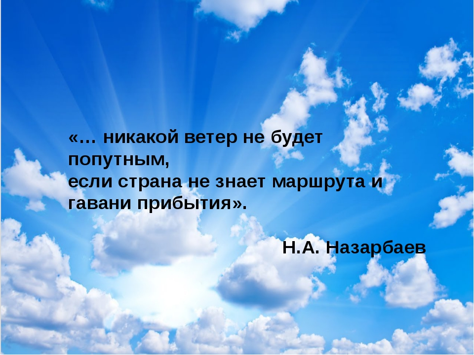 «… никакой ветер не будет попутным, если страна не знает маршрута и гавани пр...