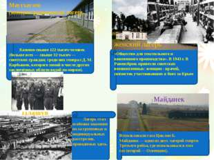 Майданек Маутхаузен (концентрационный лагерь. Казнено свыше 122 тысяч челове