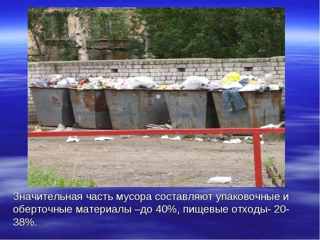 Значительная часть мусора составляют упаковочные и оберточные материалы –до 4...