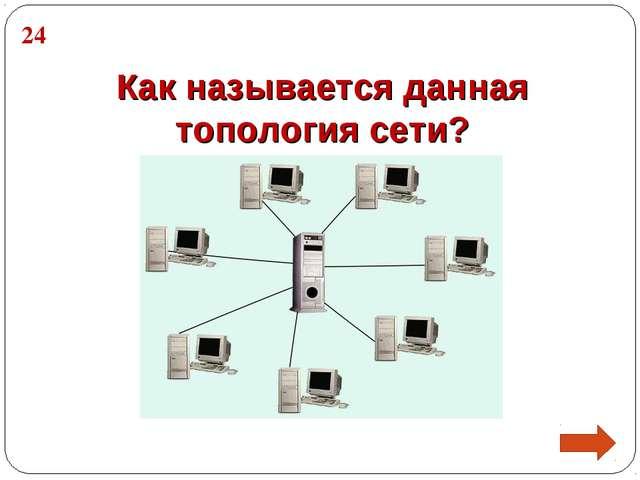 Как называется данная топология сети? 24