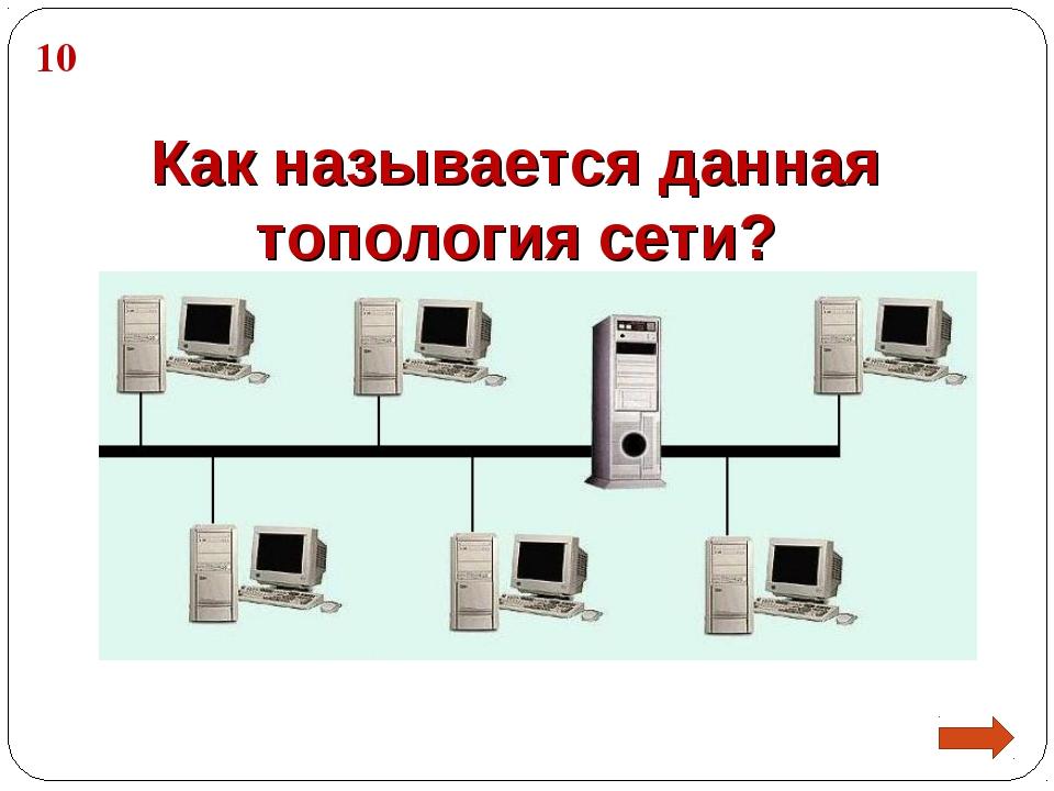 Как называется данная топология сети? 10