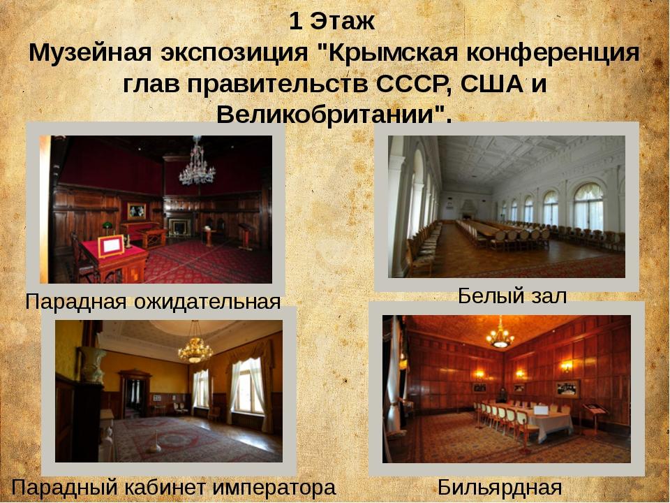Парадный кабинет императора Бильярдная Парадная ожидательная Белый зал 1 Эт...