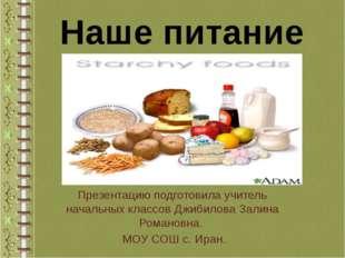 Презентацию подготовила учитель начальных классов Джибилова Залина Романовна
