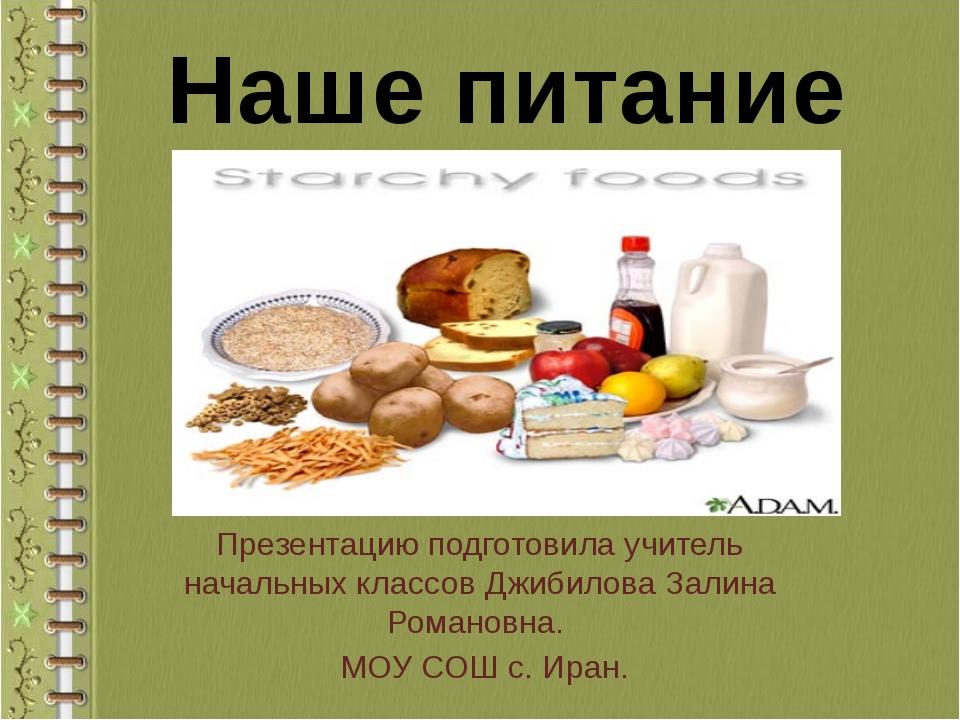 Презентацию подготовила учитель начальных классов Джибилова Залина Романовна...