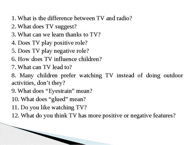 What TV programmes do you like? Why?