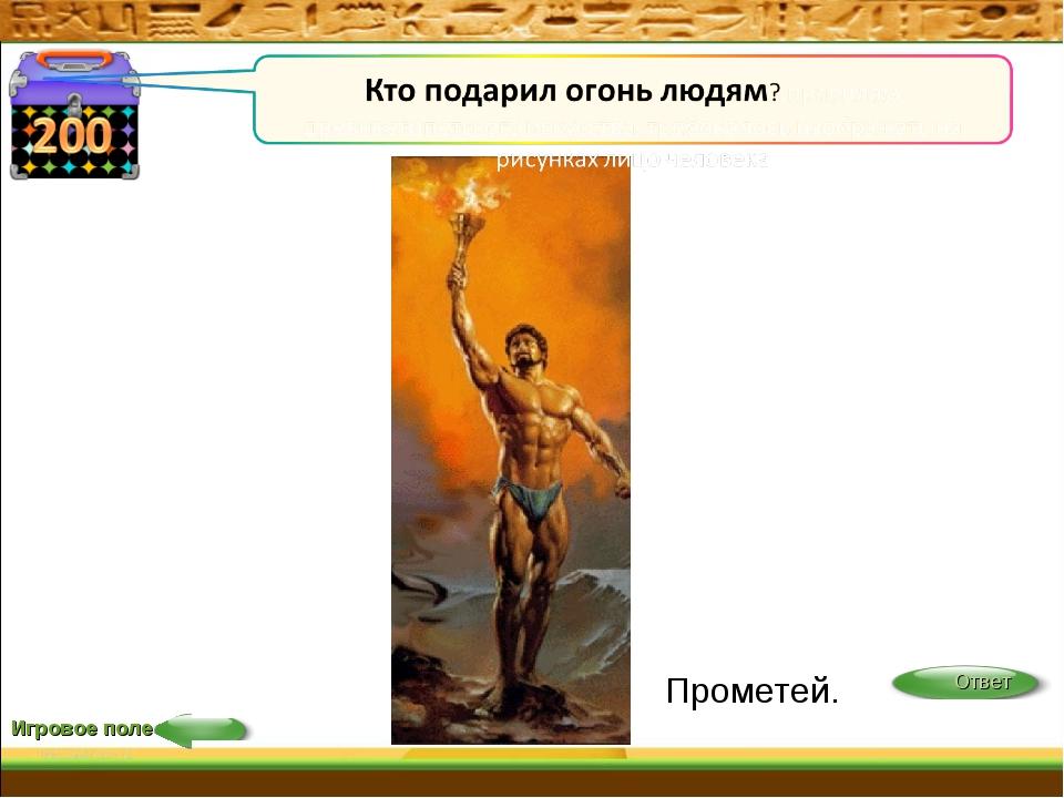 Игровое поле Прометей.