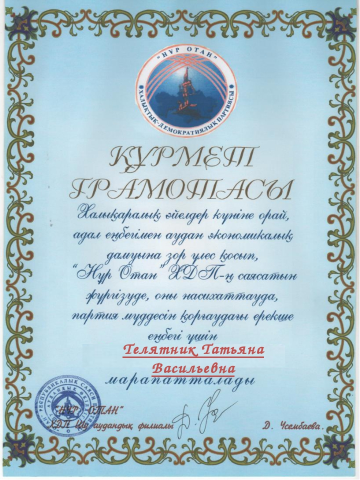 Телятник Татьяна Васильевна