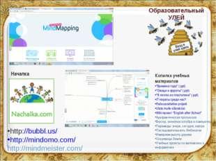 Образовательный УЛЕЙ http://bubbl.us/ http://mindomo.com/ http://mindmeister.