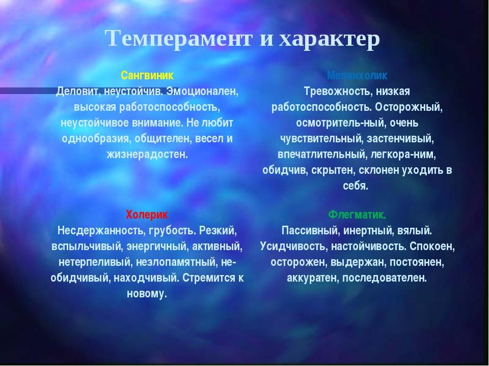 Темперамент и характер Сангвиник Деловит, неустойчив. Эмоционален, высокая ра...