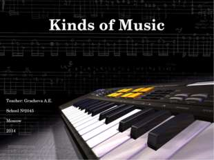 Kinds of Music Teacher: Gracheva A.E. School №2045 Moscow 2014
