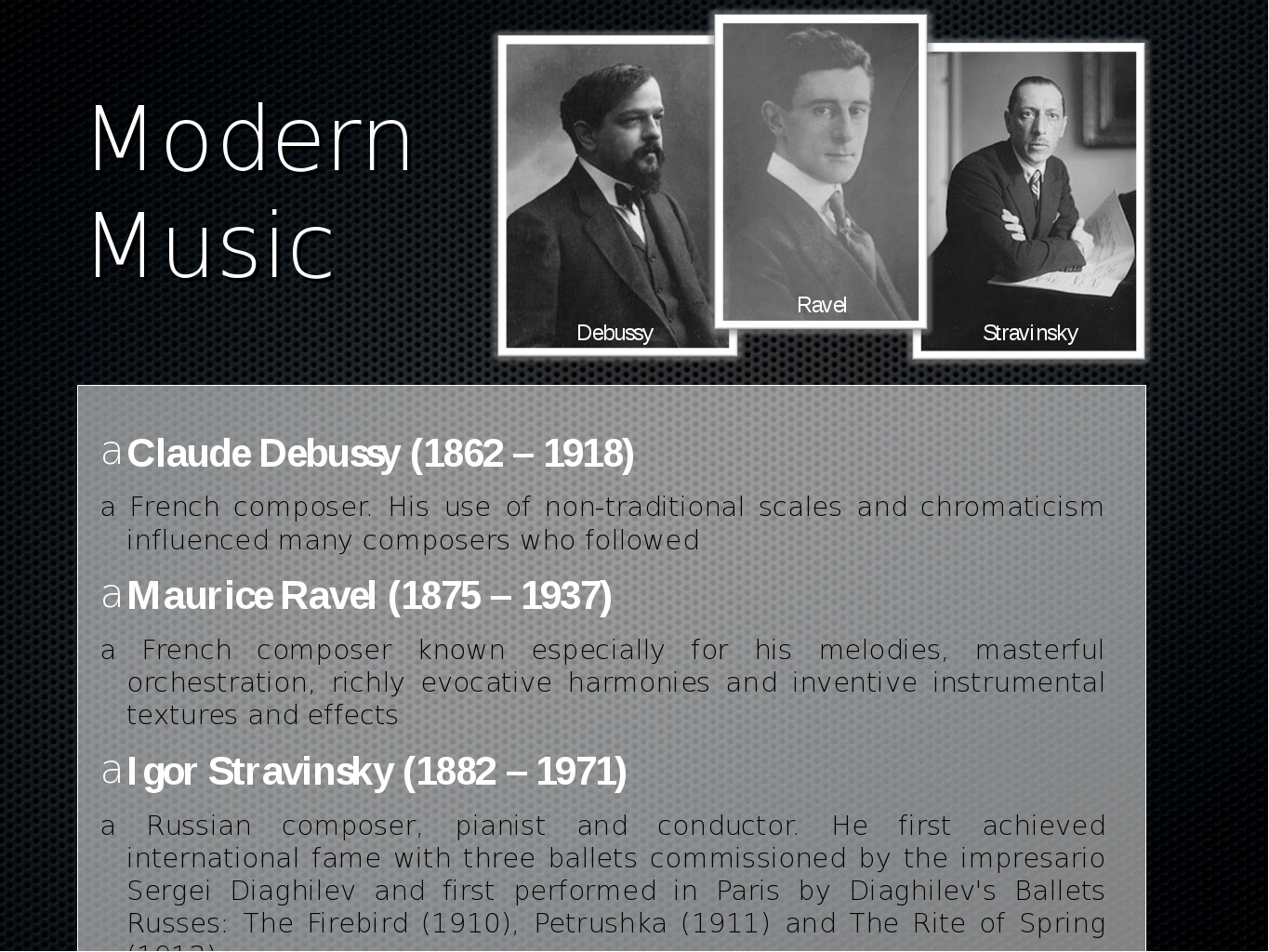 the life and music of claude debussy Top 10 piano works by claude debussy to say that debussy revolutionized piano music would be an understatement of victorious love and the opportune life.