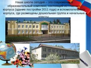 Наша школа сегодня – это современный образовательный комплекс, состоящий из г
