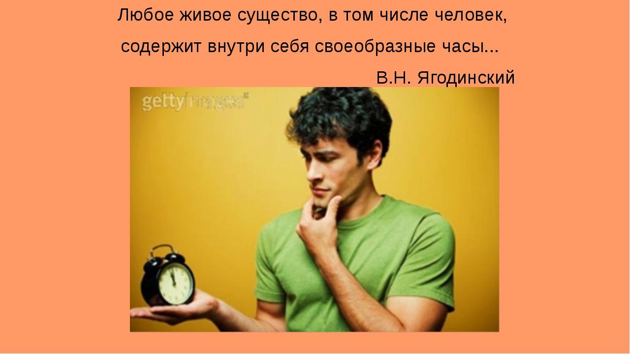 Любое живое существо, в том числе человек, содержит внутри себя своеобразные...
