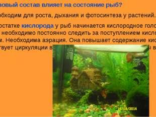 4.Как газовый состав влияет на состояние рыб? Азот необходим для роста, дыхан