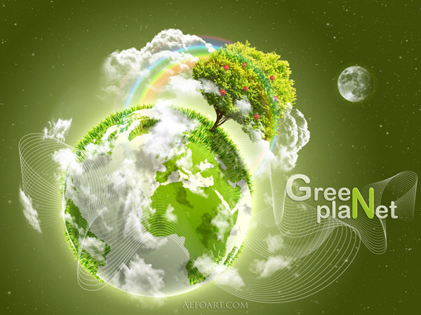 Берегите нашу Землю :: Уроки Photoshop :: Работа с графикой :: Все о графике - уроки Photoshop, Corel Draw, Adobe Illustrator.