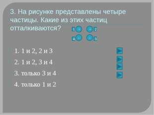 4. На рисунке представлены четыре заряженные частицы. Какие из этих частиц п