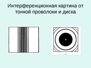 Интерференционная картина от тонкой проволоки и диска