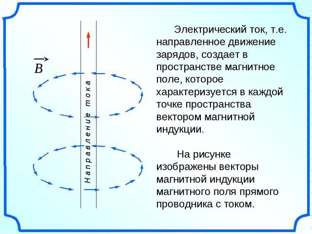 Электрический ток, т.е. направленное движение зарядов, создает в пространств...